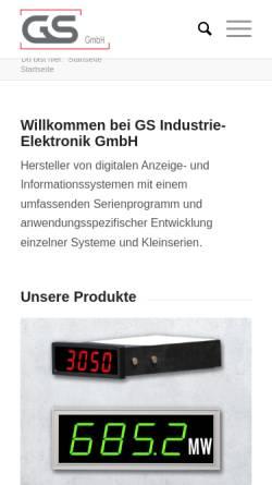 Vorschau der mobilen Webseite www.gs-gmbh.de, GS Gebhardt & Schäfer Industrie-Elektronik GmbH