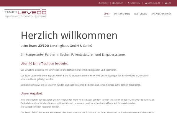Vorschau von www.team-levedo.com, Leveringhaus GmbH