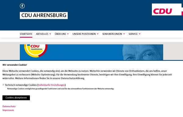 Vorschau von www.cdu-ahrensburg.de, CDU-Stadtverband Ahrensburg