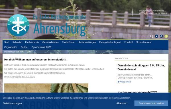 Vorschau von www.kirche-ahrensburg.com, Evangelisch-Lutherishe Kirchengemeinde in Ahrensburg