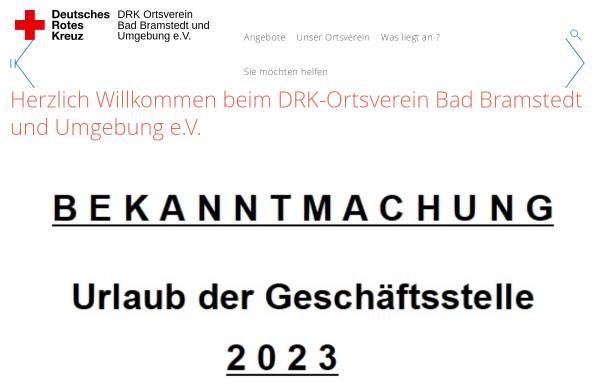 Vorschau von drk-badbramstedt.de, DRK Ortsverein Bad Bramstedt und Umgebung e.V.