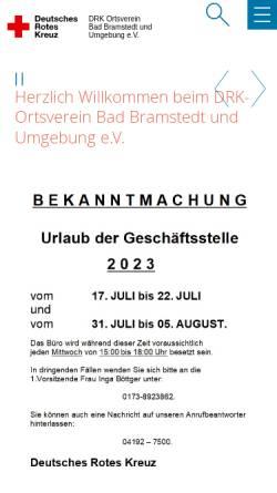 Vorschau der mobilen Webseite drk-badbramstedt.de, DRK Ortsverein Bad Bramstedt und Umgebung e.V.