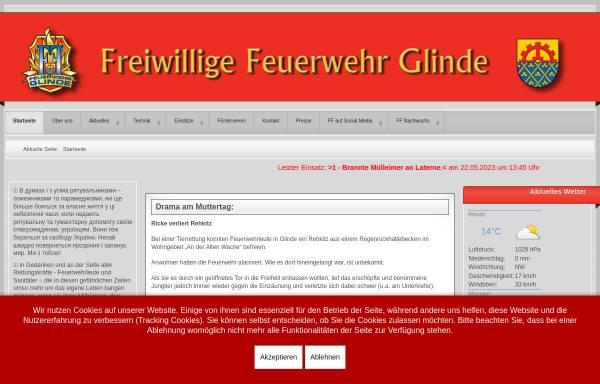 Vorschau von www.ff-glinde.de, Freiwillige Feuerwehr Glinde