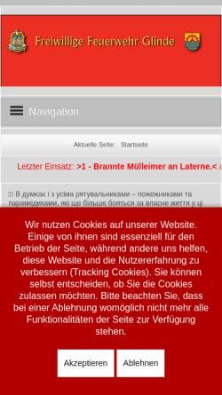 Vorschau der mobilen Webseite www.ff-glinde.de, Freiwillige Feuerwehr Glinde