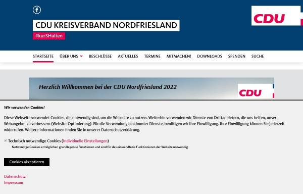 Vorschau von www.cdu-nf.de, CDU Husum