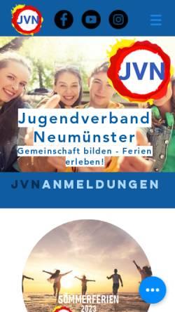 Vorschau der mobilen Webseite jvn.de, Jugendverband Neumünster e. V.