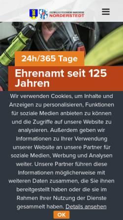 Vorschau der mobilen Webseite www.feuerwehr-harksheide.de, Freiwillige Feuerwehr Harksheide