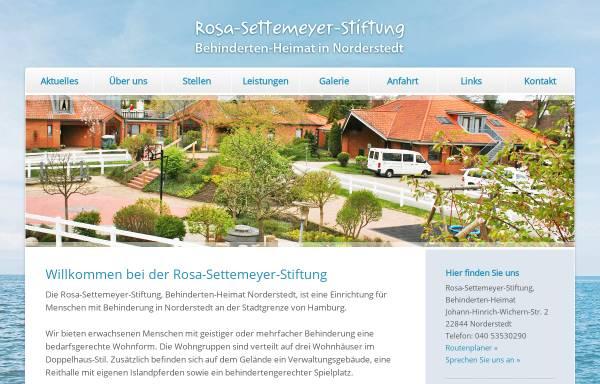 Vorschau von www.settemeyer-stiftung.de, Rosa Settemeyer-Stiftung