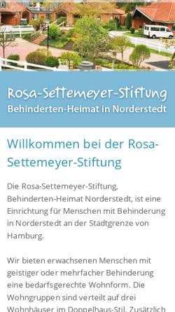 Vorschau der mobilen Webseite www.settemeyer-stiftung.de, Rosa Settemeyer-Stiftung