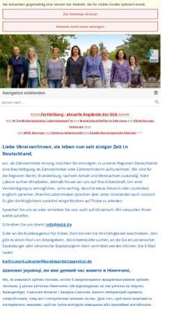 Vorschau der mobilen Webseite www.zibb.de, Zahntechniker Innung Berlin-Brandenburg