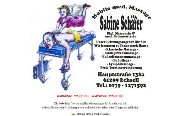 Vorschau von www.mobilemedmassage.de, Schäfer, Sabine