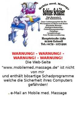 Vorschau der mobilen Webseite www.mobilemedmassage.de, Schäfer, Sabine