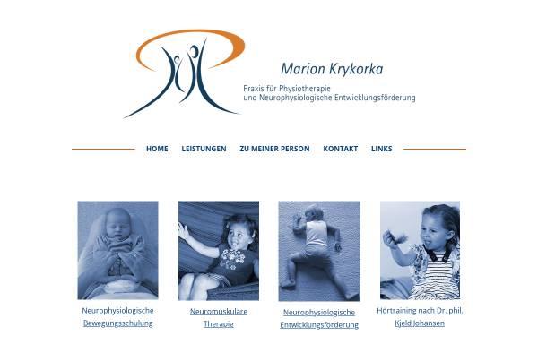 Vorschau von www.praxis-krykorka.de, Marion Krykorka - Praxis für Physiotherapie und Neurophysiologische Entwicklungsförderung