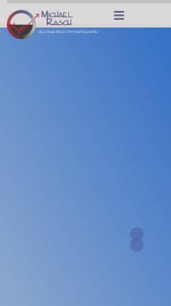 Vorschau der mobilen Webseite www.psychotherapie-oberursel.de, Praxis für Psychotherapie (HPG) Michael Rasch