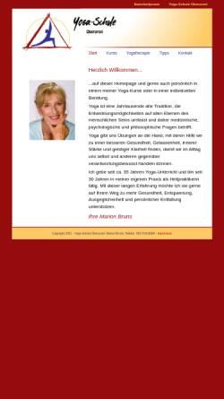 Vorschau der mobilen Webseite www.yogaschule-oberursel.de, Yoga-Schule Oberursel
