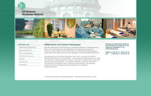 Vorschau von www.ggs-op-zentrum.de, OP-Zentrum Wiesbaden-Biebrich