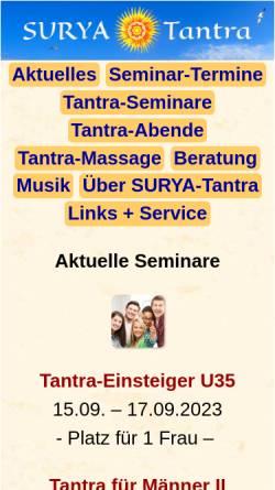 Vorschau der mobilen Webseite www.surya-tantra.de, Surya-Tantra