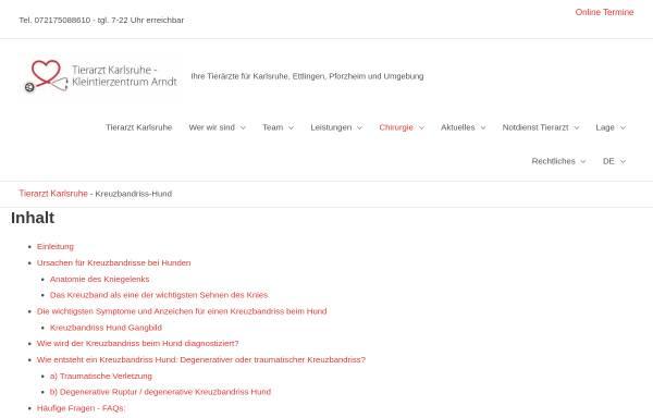 Vorschau von www.tierklinik-wiesbaden.de, Tierklinik Wiesbaden