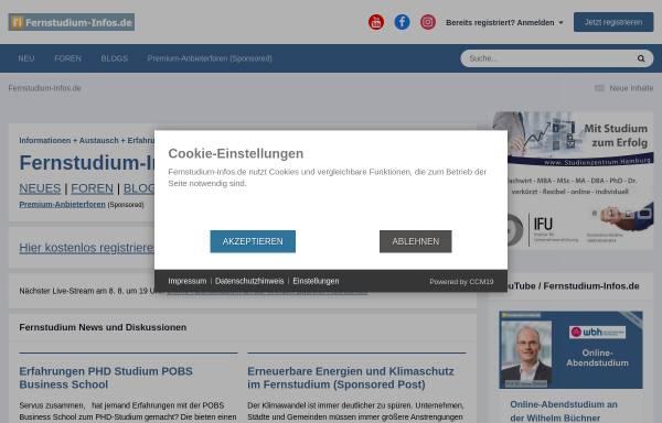 Vorschau von www.fernstudium-infos.de, Fernstudium-Infos.de