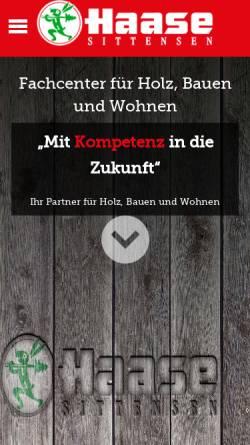 Vorschau der mobilen Webseite www.holz-haase.de, Haase