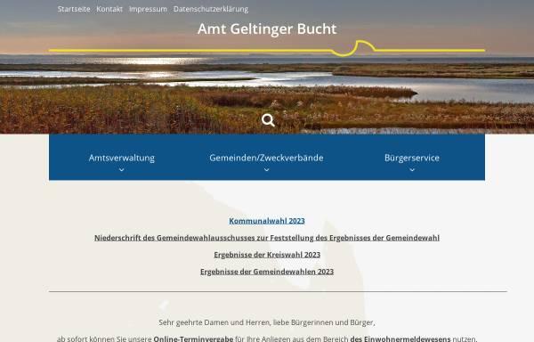 Vorschau von www.amt-geltingerbucht.de, Amt Geltinger Bucht