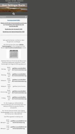 Vorschau der mobilen Webseite www.amt-geltingerbucht.de, Amt Geltinger Bucht
