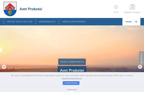 Vorschau von www.amt-probstei.de, Amt Probstei