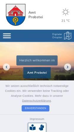 Vorschau der mobilen Webseite www.amt-probstei.de, Amt Probstei