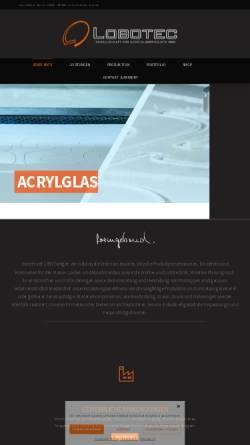 Vorschau der mobilen Webseite www.lobotec-acryl.de, Lobotec GmbH