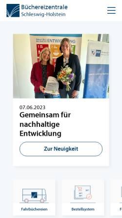 Vorschau der mobilen Webseite www.bz-sh.de, Büchereizentrale Schleswig-Holstein