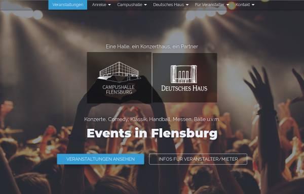Vorschau von www.flens-arena.de, Campushalle Flensburg