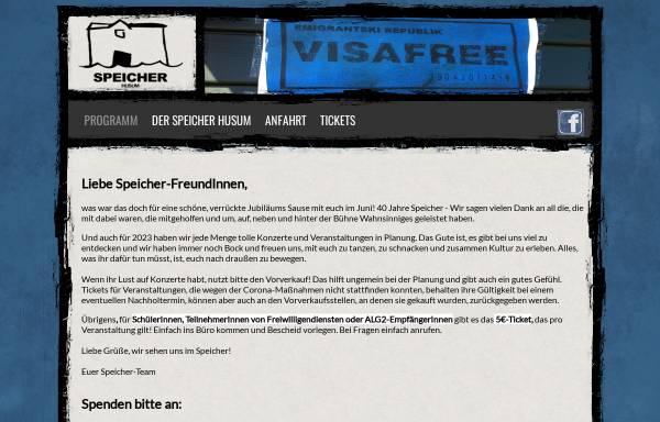 Vorschau von www.speicher-husum.de, Speicher Husum e. V.
