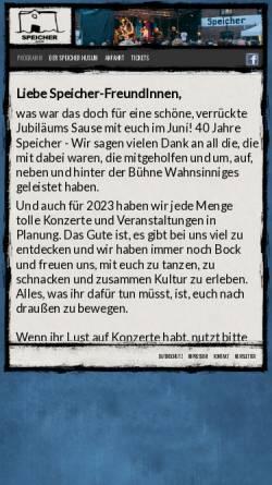 Vorschau der mobilen Webseite www.speicher-husum.de, Speicher Husum e. V.