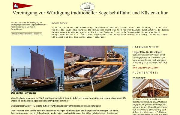 Vorschau von www.freunde-alter-schiffe.de, Museumshafen Laboe