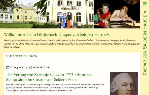 Vorschau von www.caspar-von-saldern.de, Caspar-von-Saldern-Haus e.V.