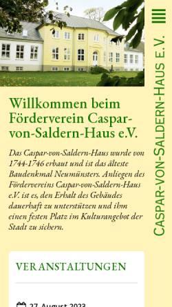 Vorschau der mobilen Webseite www.caspar-von-saldern.de, Caspar-von-Saldern-Haus e.V.