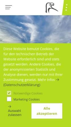 Vorschau der mobilen Webseite www.adlershorst.de, Adlerhorst Baugenossenschaft eG