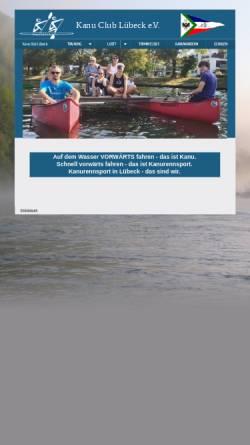 Vorschau der mobilen Webseite www.kclev.de, Kanu Club Lübeck e.V.