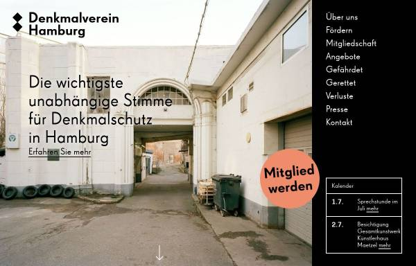 Vorschau von www.denkmalverein.de, Denkmalverein Hamburg