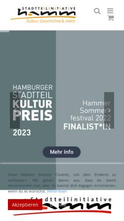 Vorschau der mobilen Webseite www.hh-hamm.de, Stadtteilinitiative Hamm e.V.