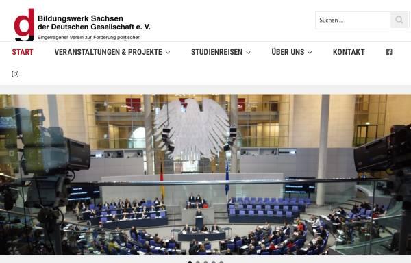 Vorschau von www.dg-bildungswerksachsen.org, Bildungswerk Sachsen der Deutschen Gesellschaft