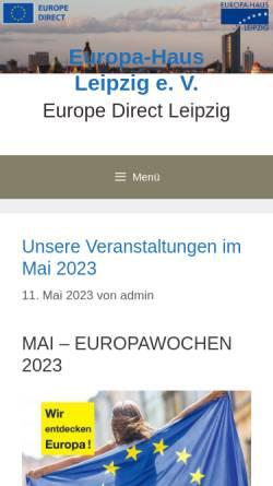 Vorschau der mobilen Webseite www.europa-haus-leipzig.de, Europa-Haus Leipzig