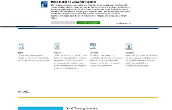 Vorschau von www.europaeische-akademie.de, Europäische Akademie Bayern e.V.