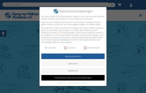 Vorschau von www.vollmar-akademie.de, Georg-von-Vollmar-Akademie e.V.