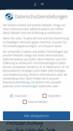 Vorschau der mobilen Webseite www.vollmar-akademie.de, Georg-von-Vollmar-Akademie e.V.