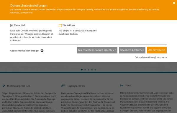 Vorschau von www.gsi-bonn.de, Gustav-Stresemann-Institut e.V. [GSI]