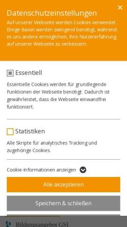 Vorschau der mobilen Webseite www.gsi-bonn.de, Gustav-Stresemann-Institut e.V. [GSI]