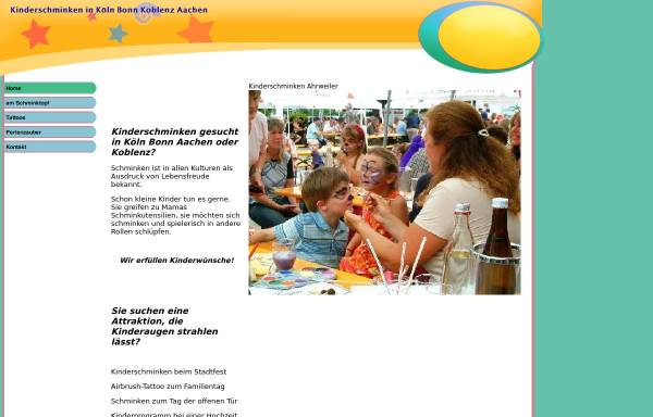 Vorschau von www.kinderschminken-bonn.de, Kinderschminken-Bonn, Lisa Simons