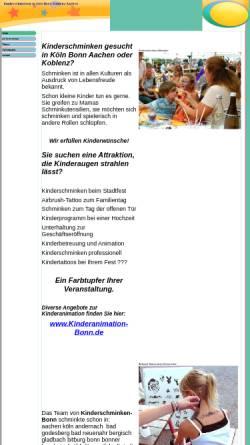 Vorschau der mobilen Webseite www.kinderschminken-bonn.de, Kinderschminken-Bonn, Lisa Simons