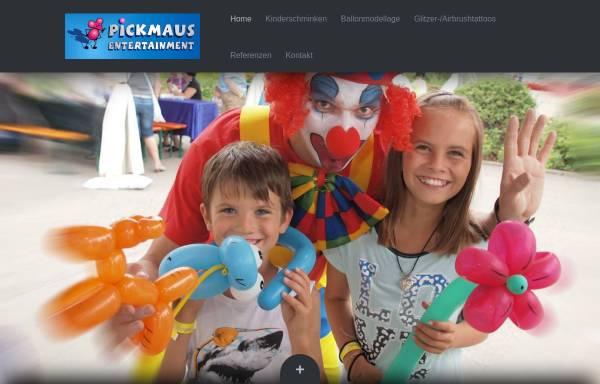 Vorschau von www.pickmaus-kinderschminken.de, Pickmaus Kinderschminken, Petra Pickan